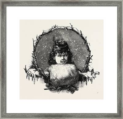 Well Protected, Muff, Fashion, Winter Framed Print by English School