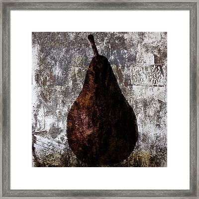 Well-read Pear Framed Print by Carol Leigh