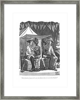 Well, Struthers, I Guess We've Gone Framed Print by Peter Arno