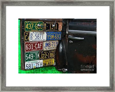 Well Traveled Door Framed Print