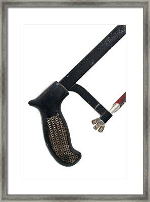 Well Used Hack Saw Framed Print