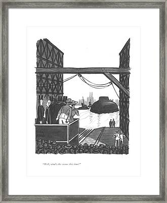 Well, What's The Excuse This Time? Framed Print by Peter Arno