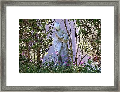 Well Woman Sculpture Framed Print