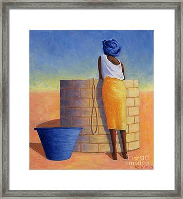 Well Woman Framed Print