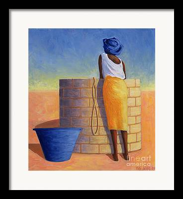 Fetching Water Framed Prints