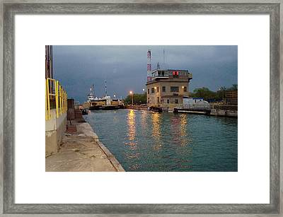 Framed Print featuring the photograph Welland Canal Locks by Barbara McDevitt