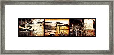 Welland Forge Triptych 1 Framed Print by The Art of Marsha Charlebois
