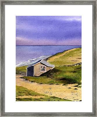 Wellfleet Cottage Framed Print