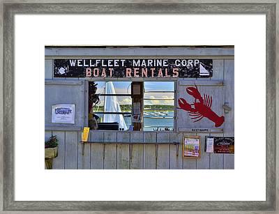 Wellfleet Harbor Thru The Window Framed Print