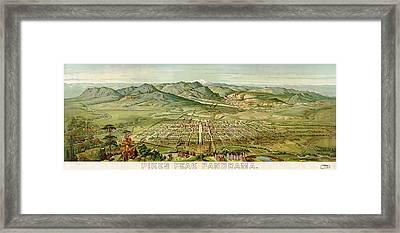 Wellge's Colorado Springs Birdseye Map - 1890 Framed Print