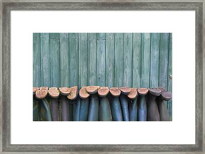 Wellies Framed Print by Brendan Quinn