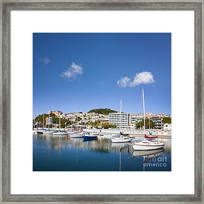 Wellington Oriental Bay Marina New Zealand Framed Print