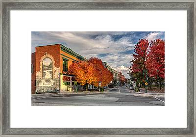 Wellington Street In Autumn Framed Print by Pierre Leclerc Photography