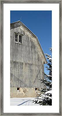 Wells Barn Framed Print by Debbie Finley
