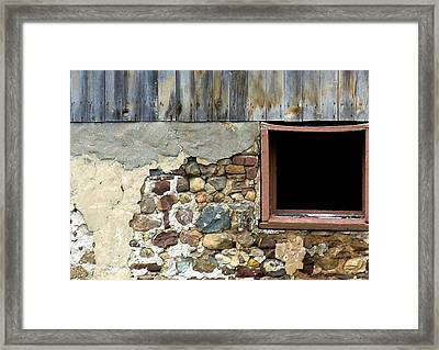 Well's Barn Texture Framed Print by Debbie Finley