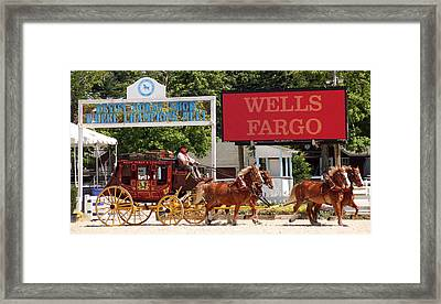 Framed Print featuring the photograph Wells Fargo At Devon by Alice Gipson