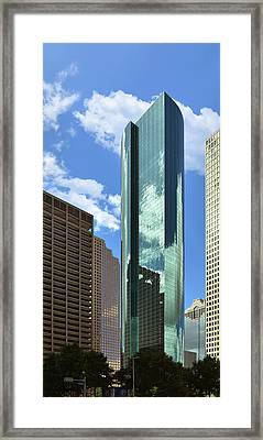 Wells Fargo Plaza Houston Tx Framed Print by Christine Till