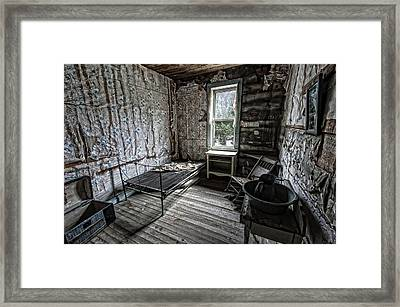 Wells Hotel Room 2 - Garnet Ghost Town - Montana Framed Print by Daniel Hagerman