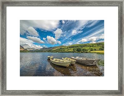 Welsh Boats Framed Print by Adrian Evans