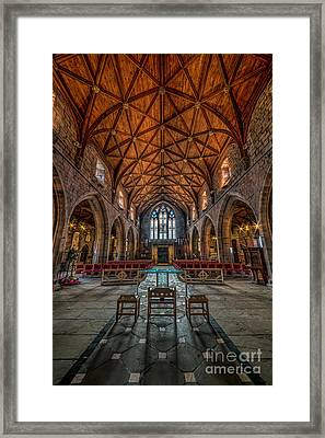 Welsh Cathedral  Framed Print by Adrian Evans