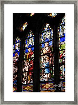 Welsh Glass Framed Print
