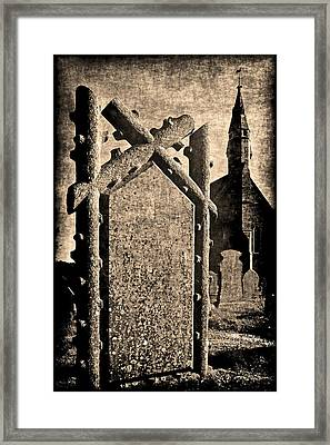 Welsh Graveyard Framed Print