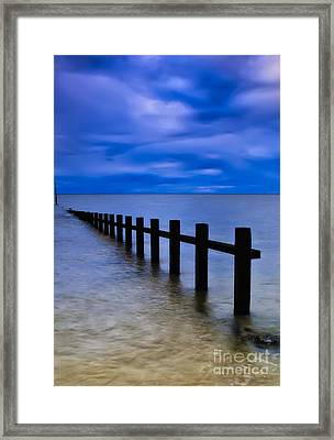 Welsh Seascape Framed Print by Adrian Evans