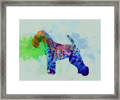 Welsh Terrier Watercolor Framed Print by Naxart Studio