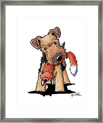 Welsh Terrier With Toy Fox Framed Print by Kim Niles