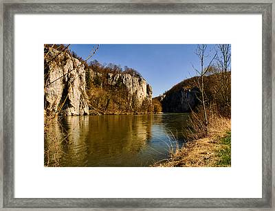 Weltenburg Narrows Framed Print