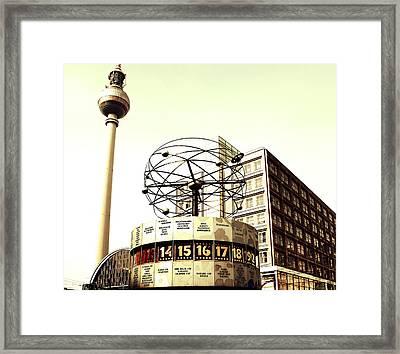 Weltzeituhr-fernsehturm-berlin Framed Print by Falko Follert
