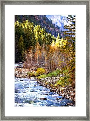 Wenatchee River - Leavenworth - Washington Framed Print