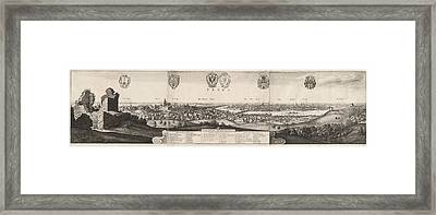 Wenceslaus Hollar, The Great View Of Prague Framed Print by Litz Collection
