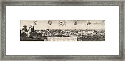 Wenceslaus Hollar, The Great View Of Prague Framed Print by Quint Lox