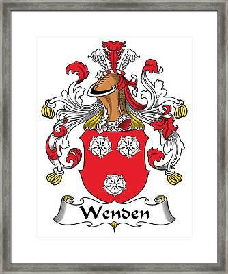 Wenden Coat Of Arms German Framed Print by Heraldry