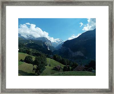 Wengen View Of The Alps Framed Print