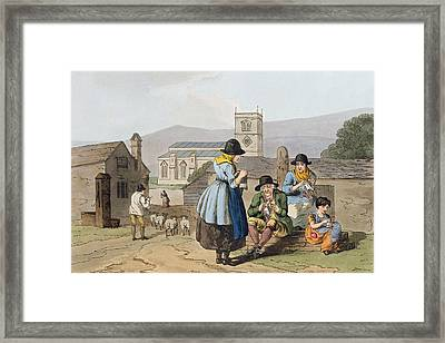 Wensleydale Knitters, From `costume Framed Print