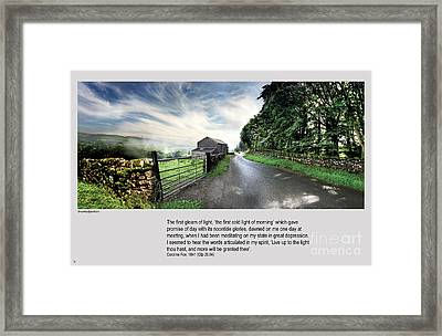Wensleydale Road Framed Print by Mike Hoyle