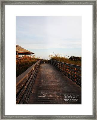Went For A Stroll On The Boardwalk Framed Print by Meghan Pettis