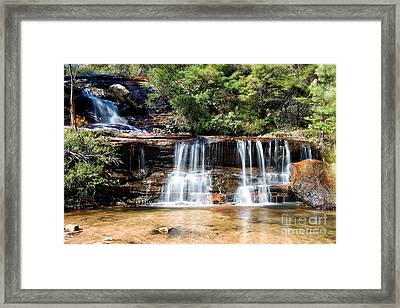 Framed Print featuring the photograph Wentworth Falls by Yew Kwang