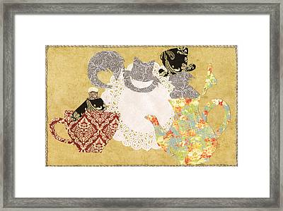 We're All Mad Here Framed Print by Savannah Bertozzi