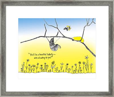 We're All Waiting For You Framed Print by Trina Paulus