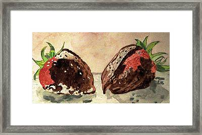 We're Great Together Valentine Framed Print by Angela Davies