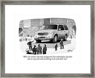 We're Not Certain Why They Disappeared Framed Print