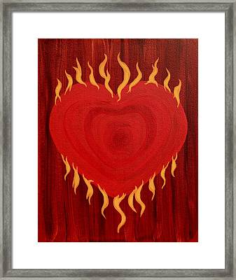 Were Not Our Hearts Burning Within Us Framed Print by Michele Myers