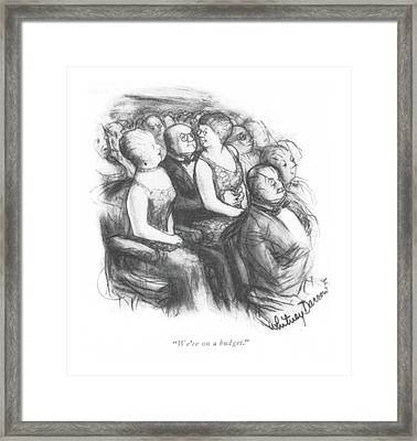We're On A Budget Framed Print by Jr., Whitney Darrow