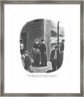 We're Slipping You This Decoration Framed Print by Richard Taylor