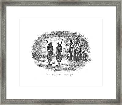 Were Those Trees There A Moment Ago? Framed Print by Alan Dunn