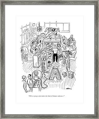 We're Trying To Determine The Limit Of Human Framed Print by  Alain