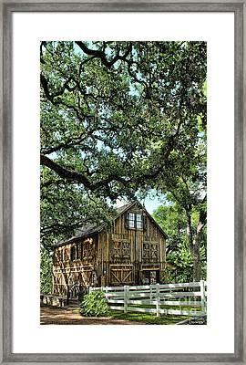 Were You Raised In A Barn? Framed Print
